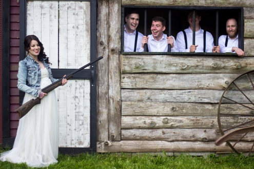 Melanie Wedding - Shot gun with Bride